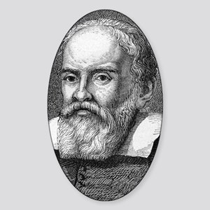 Galileo Galilei, Italian astronomer Sticker (Oval)