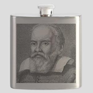 Galileo Galilei, Italian astronomer Flask