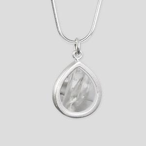 Laboratory glassware Silver Teardrop Necklace