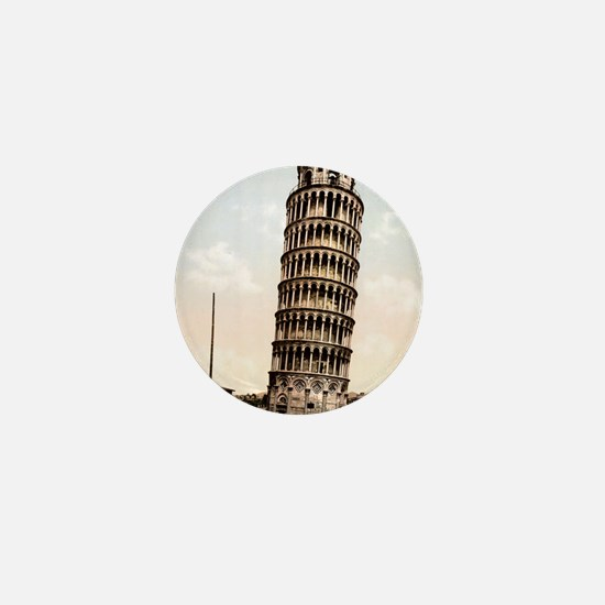 Vintage Leaning Tower Of Pisa Mini Button