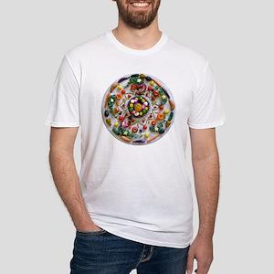 Veg and Fruit Mandala Fitted T-Shirt