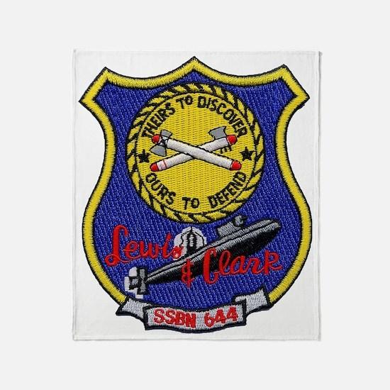 uss lewis and clark patch transarent Throw Blanket