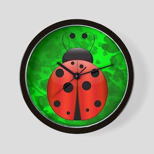 Large Single Ladybug Wall Clock