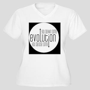 darwinbutton Women's Plus Size V-Neck T-Shirt