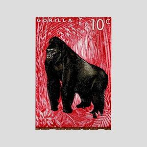 1959 Rwanda Mountiain Gorilla Sta Rectangle Magnet