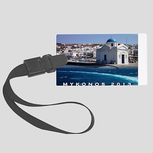 Mykonos Calendar 2013 Large Luggage Tag