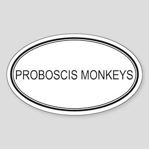 Oval Design: PROBOSCIS MONKEY Oval Sticker