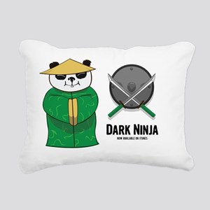 Panda Shopkeeper Rectangular Canvas Pillow