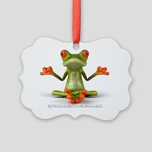 Around Cairns Zen Frog Picture Ornament