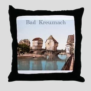 Bad Kreuznach Bridge Houses Throw Pillow