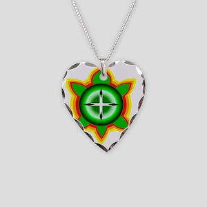 SOUTHEASTERN TRIBAL TURTLE Necklace Heart Charm