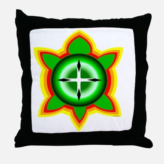 SOUTHEASTERN TRIBAL TURTLE Throw Pillow