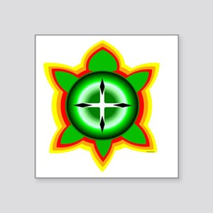 "SOUTHEASTERN TRIBAL TURTLE Square Sticker 3"" x 3"""