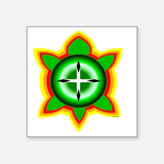 "SOUTHEASTERN TRIBAL TURTLE Square Sticker 3"" x 3"""