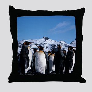 King penguins Throw Pillow