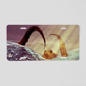 Kraken Aluminum License Plate