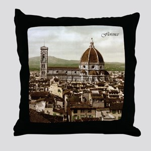 Vintage Florence Cathedral Throw Pillow