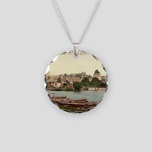 Vintage Windsor Castle Necklace Circle Charm