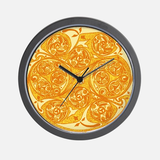 Celtic Spiral Sun Wall Clock