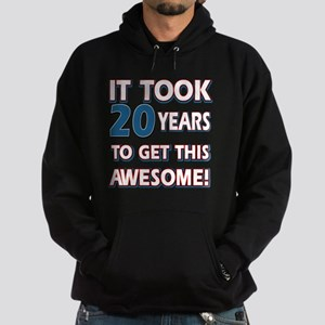 20 year old birthday designs Hoodie (dark)