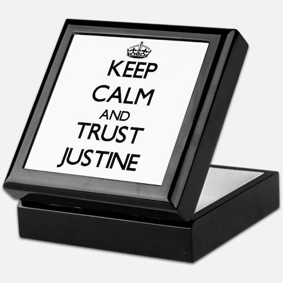 Keep Calm and trust Justine Keepsake Box