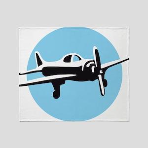plane wings of steel pilot Throw Blanket