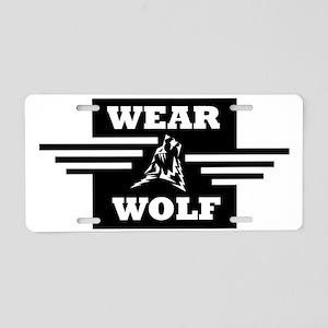 WEARWOLF CLOTHING LOGO Aluminum License Plate