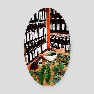 Herbal pharmacy Oval Car Magnet