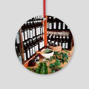 Herbal pharmacy Round Ornament