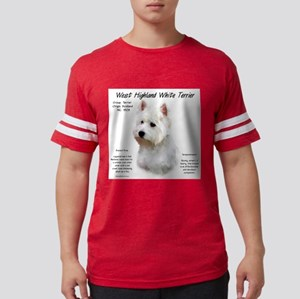 West Highland White Terrier Mens Football Shirt