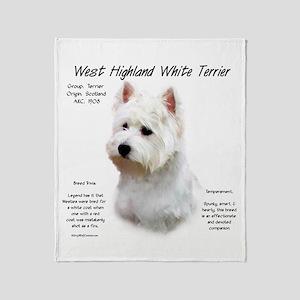 West Highland White Terrier Throw Blanket