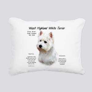 West Highland White Terr Rectangular Canvas Pillow