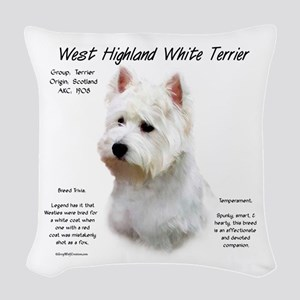West Highland White Terrier Woven Throw Pillow