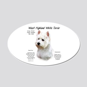 West Highland White Terrier 20x12 Oval Wall Decal