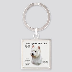West Highland White Terrier Square Keychain