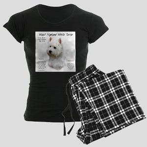 West Highland White Terrier Women's Dark Pajamas