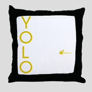 YOLO Lime Throw Pillow