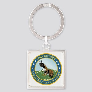 Fort Belvoir Square Keychain