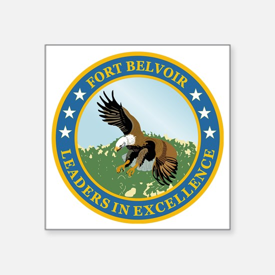 "Fort Belvoir Square Sticker 3"" x 3"""