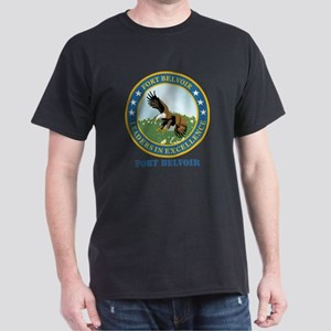 Fort Belvoir with Text Dark T-Shirt
