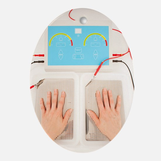 Iontophoresis for excess sweating Oval Ornament