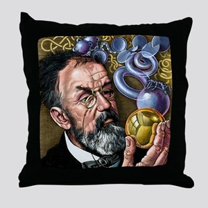 Henri Poincare, French mathematician Throw Pillow