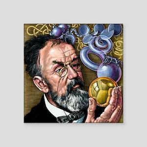 "Henri Poincare, French math Square Sticker 3"" x 3"""