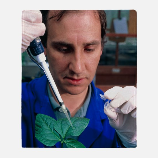 AIDS plant vaccine: researcher infec Throw Blanket