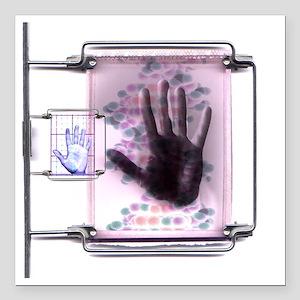 """DNA fingerprinting Square Car Magnet 3"""" x 3"""""""