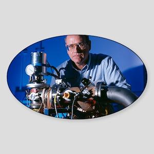 Astrochemistry researcher Sticker (Oval)