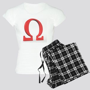 Greek letter Omega, upper c Women's Light Pajamas