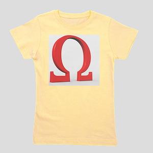 Greek letter Omega, upper case Girl's Tee