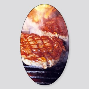 Barbecue Sticker (Oval)