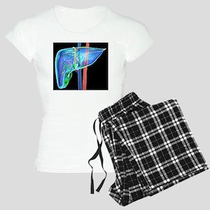 Human liver, artwork Women's Light Pajamas